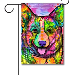 Abstract Corgi   Garden Flag   12.5u0027u0027 ...