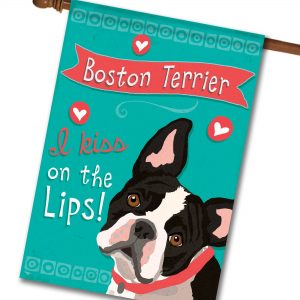 Boston Terrier- House Flag - 28'' x 40''