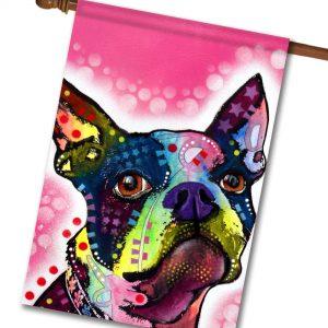 Boston Terrier - House Flag - 28'' x 40''