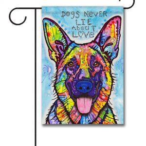 Dogs Never Lie - Garden Flag - 12.5'' x 18''