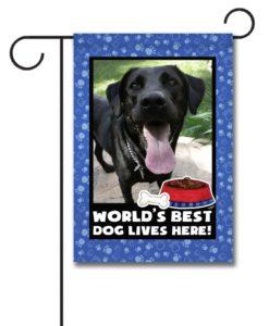 World's Best Dog - Photo Garden Flag - 12.5'' x 18''