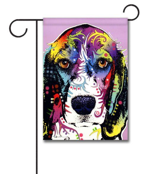 Abstract Beagle - Garden Flag - 12.5'' x 18''