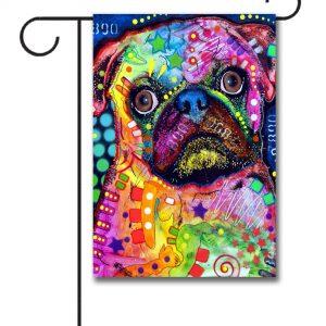 Abstract Pug - Garden Flag - 12.5'' x 18''