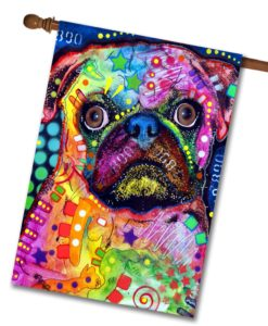 Abstract Pug - House Flag - 28'' x 40''