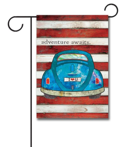 Adventure Awaits - Garden Flag - 12.5'' x 18''
