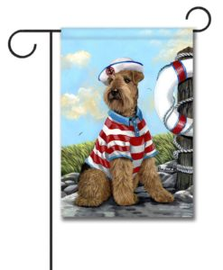 Airedale Terrier The Skipper- Garden Flag - 12.5'' x 18''