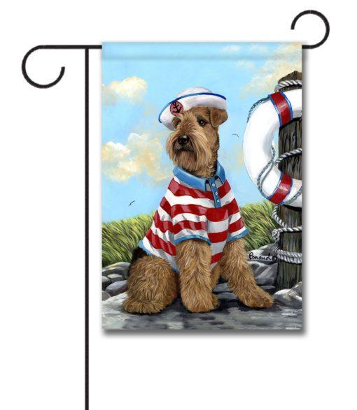 Airedale Terrier The Skipper- Garden Flag - 12.5'' x 18''