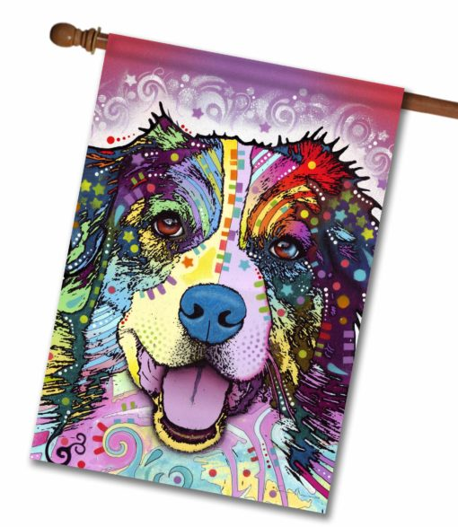 Australian Shepherd - House Flag - 28'' x 40''