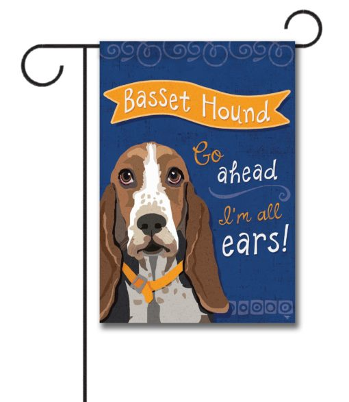 Bassett Hound- Garden Flag - 12.5'' x 18''