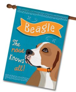 Beagle- House Flag - 28'' x 40''