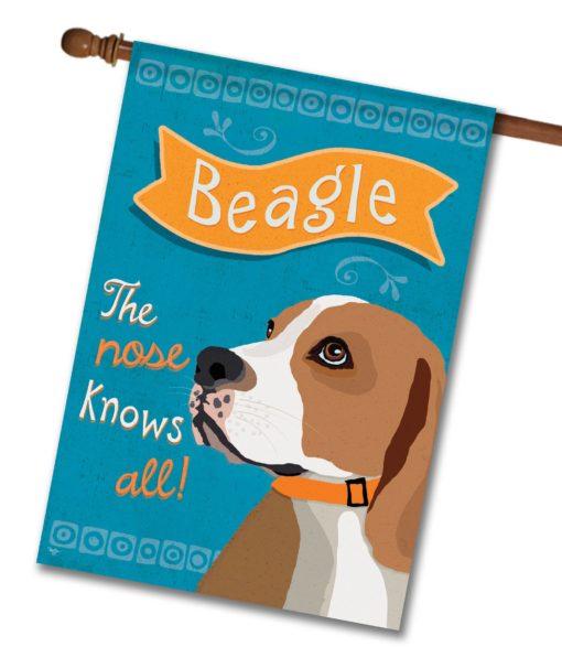 Beagle- House Flag - 28'' x 40''