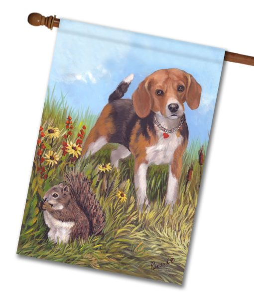 Beagle The Hunter - House Flag - 28'' x 40''