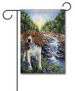 Beagle Paradise - Garden Flag - 12.5'' x 18''