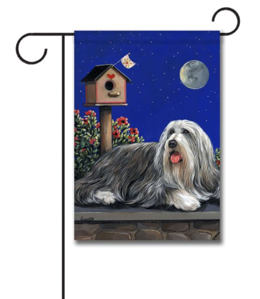 Bearded Collie Moonshine - Garden Flag - 12.5'' x 18''