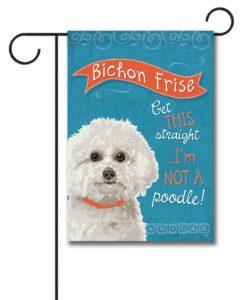 Bichon Frise- Garden Flag - 12.5'' x 18''