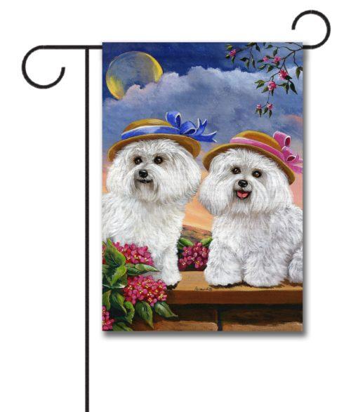 Bichon Frise Soulmates - Garden Flag - 12.5'' x 18''