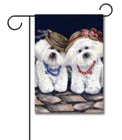 Bichon Frise Sisters - Garden Flag - 12.5'' x 18''