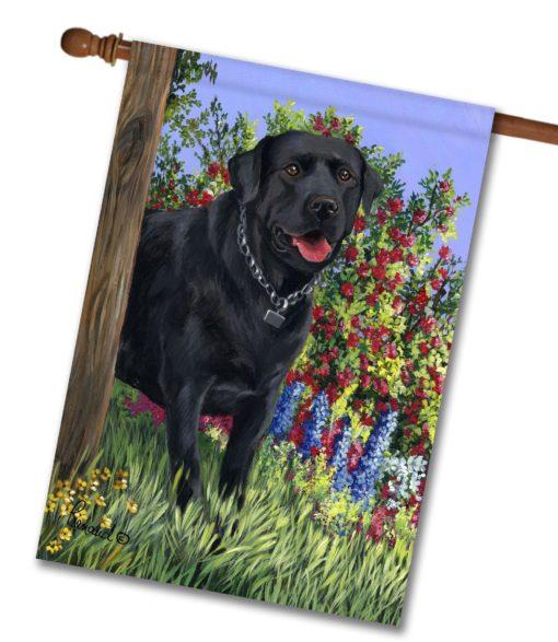 Black Labrador Retriever My Special Place - House Flag - 28'' x 40''