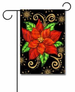 Poinsettia - Garden Flag - 12.5'' x 18''