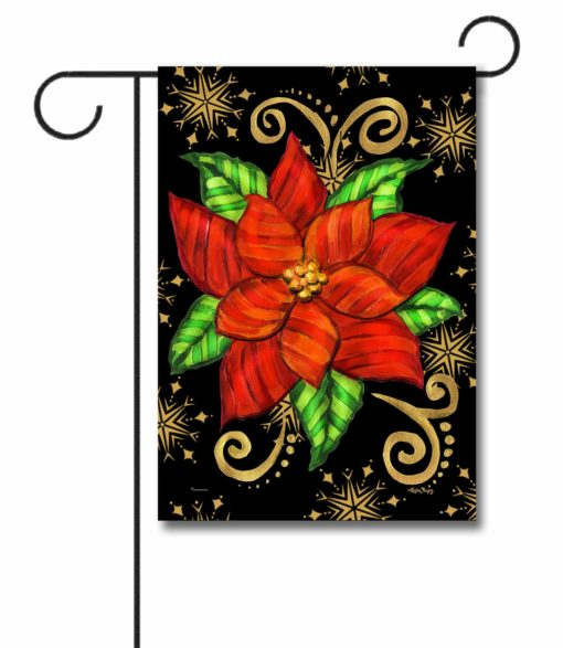 Poinsettia - Garden Flag - 12.5'' x 18''