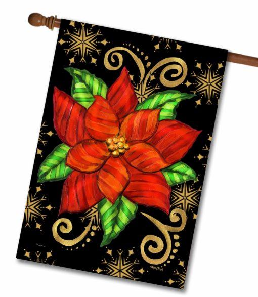 Poinsettia- House Flag - 28'' x 40''