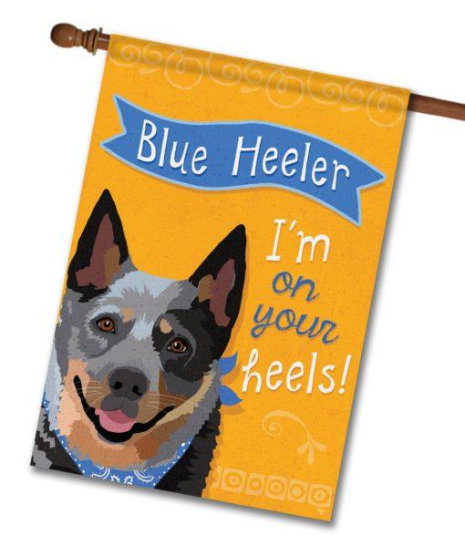Blue Heeler- House Flag - 28'' x 40''