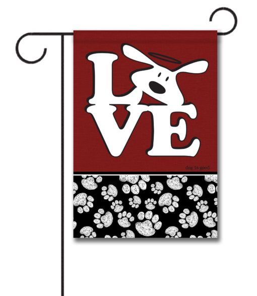 Bolo Love Dog is Good - Garden Flag - 12.5'' x 18''