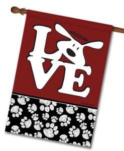 Bolo Love Dog is Good - House Flag - 28'' x 40''