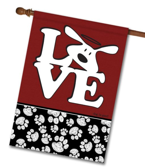 Bolo Love Dog is Good - House Flag - 28'' x 40''