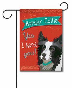 Border Collie- Garden Flag - 12.5'' x 18''