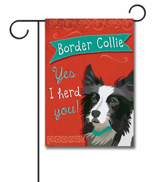 Border Collie- Garden Flag - 12.5'' x 18''