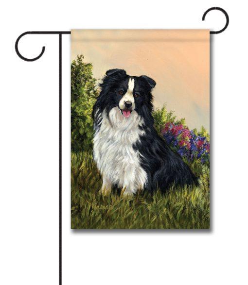 Border Collie Simplicity - Garden Flag - 12.5'' x 18''