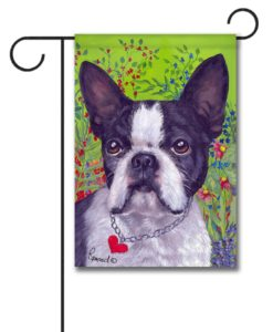 Boston Terrier Jungle - Garden Flag - 12.5'' x 18''