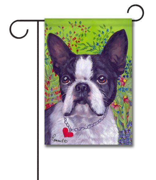 Boston Terrier Jungle - Garden Flag - 12.5'' x 18''