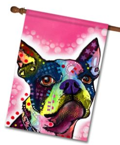 Boston Terrier - House Flag - 28'' x 40''