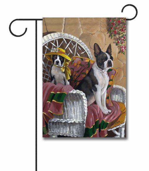 Boston Terrier Patio Gems - Garden Flag - 12.5'' x 18''