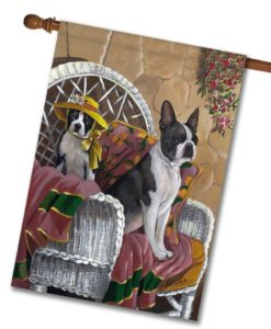 Boston Terrier Patio Gems - House Flag - 28'' x 40''