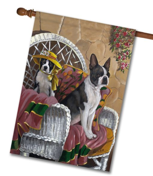 Boston Terrier Patio Gems - House Flag - 28'' x 40''