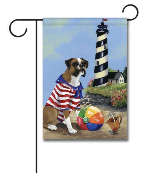 Boxer Beach Baby- Garden Flag - 12.5'' x 18''