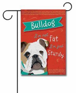 Bulldog- Garden Flag - 12.5'' x 18''