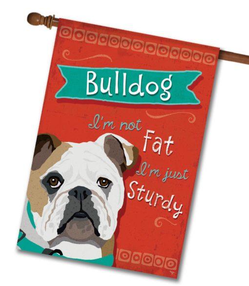 Bulldog- House Flag - 28'' x 40''