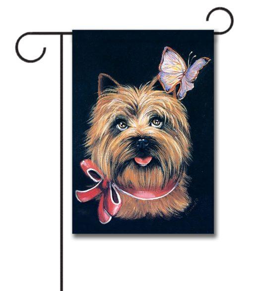 Cairn Terrier & Butterfly - Garden Flag - 12.5'' x 18''
