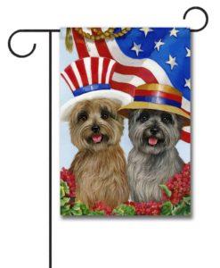 Cairn Terrier American Pride - Garden Flag - 12.5'' x 18''