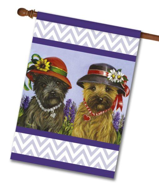 Cairn Terrier Sisters - House Flag - 28'' x 40''