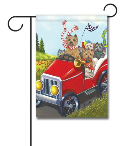 Cairn Terrier Mobile - Garden Flag - 12.5'' x 18''