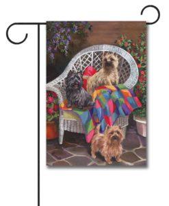 Cairn Terrier Trio - Garden Flag - 12.5'' x 18''