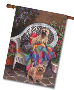 Cairn Terrier Trio - House Flag - 28'' x 40''