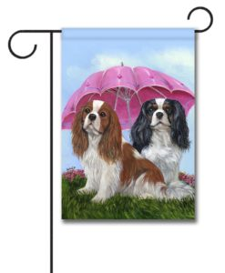 Cavalier King Charles Royal Subjects - Garden Flag - 12.5'' x 18''
