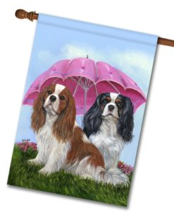 Cavalier King Charles Royal Subjects - House Flag - 28'' x 40''