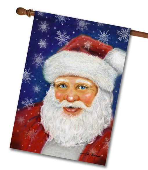Cheerful Santa- House Flag - 28'' x 40''